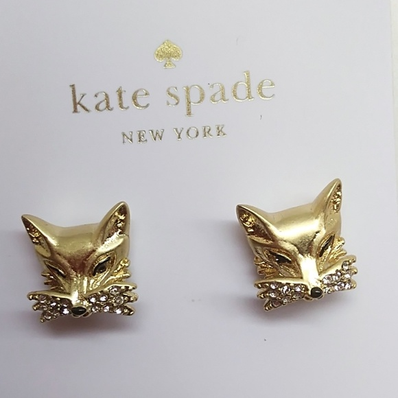 019a71ef21eab Kate Spade New Gold Fox Earrings